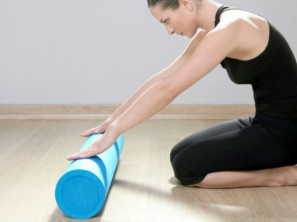 Fitness Yoga Athletic Foam Roller - 90cm