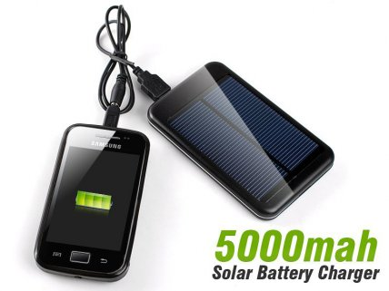 5000mah Solar Battery Charger Backup - Mobile/ Tab