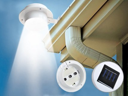 Solar Powered LED Outdoor Gutter Light