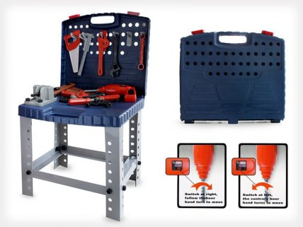 Kid's Play Tool Kit And Work Bench