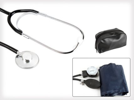 Blood Pressure Monitor plus Stethoscope Set