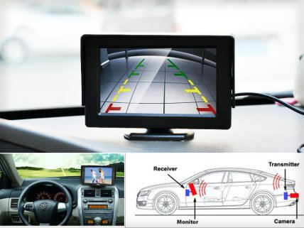 "Reversing Camera w 4.3"" LCD wireless IR-LED"