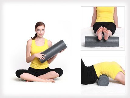 Fitness Yoga Athletic Foam Roller - 45cm