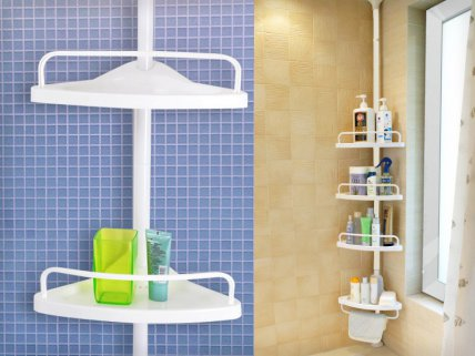 4 Level Bathroom Accessory Shelf