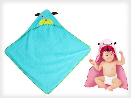 Soft Cotton Bath Towel with Hood for Kids