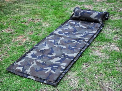 Self-Inflating Bed with Pillow
