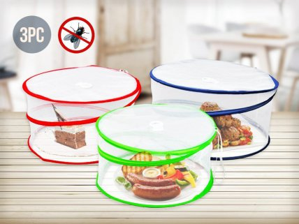 3pc Pop-Up Mesh Food Cover Set
