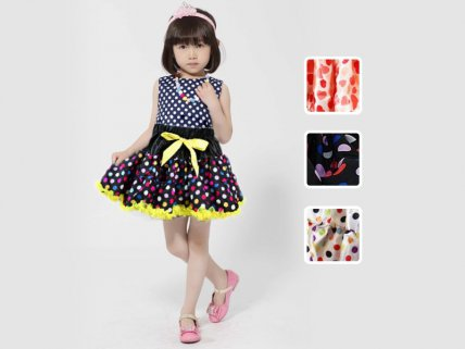 Girl's Polka Dot Tutu with Bow