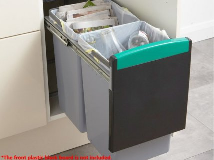 2 x 8L Kitchen Waste & Recycling Bin