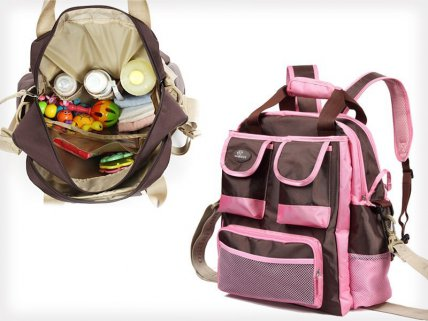 Multifunctional Nursery Backpack with Warm Pocket