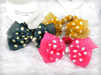 10 x Heart Shaped Hair Ties