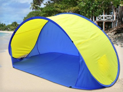 Two-Second Pop-Up Beach Tent - Fits Up To 3 People