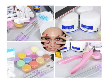 Full Acrylic Powder Nail Kit Set