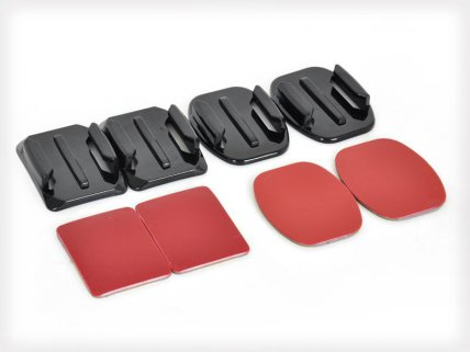 4pc GoPro Curved and Flat Adhesive Mounts