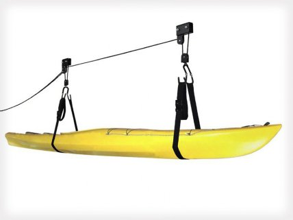 Overhead Storage System for Kayak or Canoe