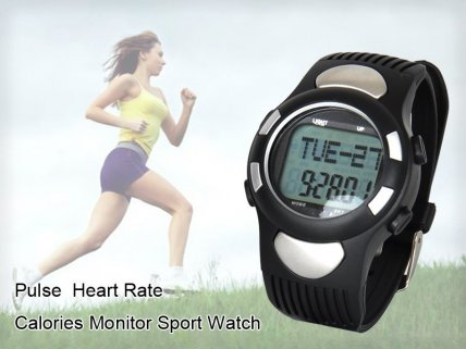 8-in-1 Pulse Rate Calorie Monitor Sport Watch
