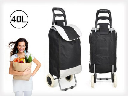 Foldable Shopping / Luggage Trolley Bag - 40L