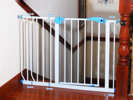 3pc Extendable Baby / Pet Safety Gate - Upto 145cm