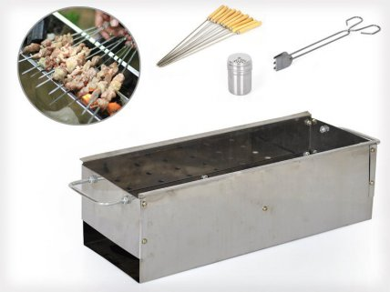 BBQ Charcoal Grill with Accessories