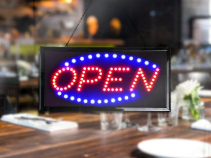 Animated Open Sign with LED Neon Light