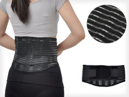 Double Pull Lumbar Back Support Belt