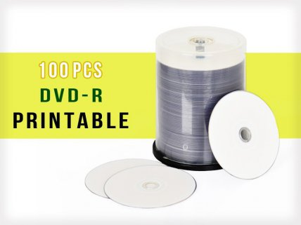 16x Fully Printable 4.7GB DVD-R - 100 Disc Set