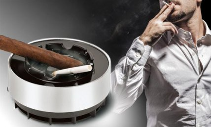 Smokeless Ashtray with Carbon Filter
