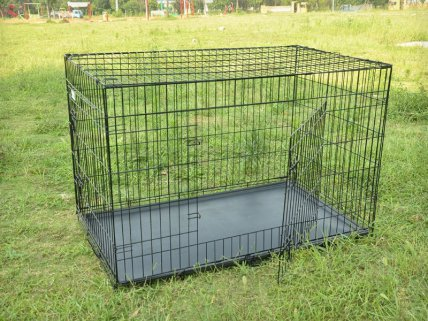 Foldable Dog Cage Kennel - XXXL 48 inch