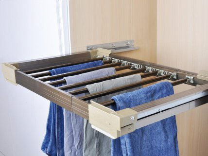 Sliding Wardrobe Rail Clothes Rack