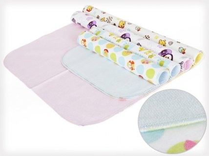 4 x Waterproof Baby Changing Pads