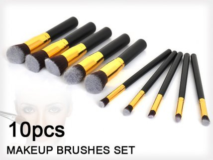 Kabuki Makeup Brush Tool Kit - 10pc