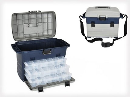 3 Drawer Storage / Tackle Box with Removable Trays