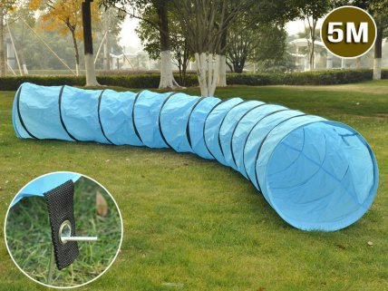 5M Portable Dog / Cat Agility Training Tunnel