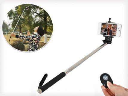Retractable Selfie Stick with Bluetooth Shutter