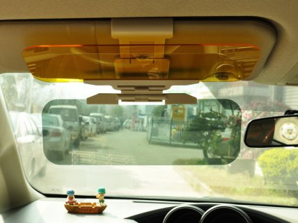 Car UV Anti-Glare Day & Night Visor Flip Clip