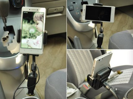 Car Smartphone Holder with Dual USB Charger