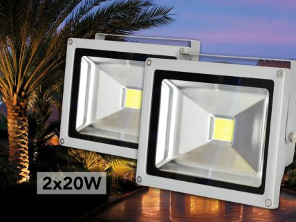 2 x 20W Outdoor LED Flood Light