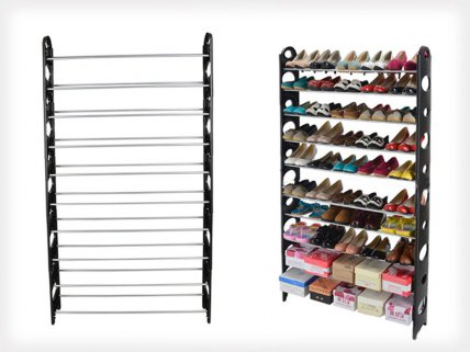 Large Shoe Storage Rack - Holds 30 Pairs