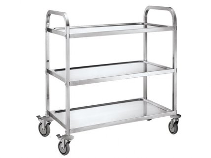 3 Tier Stainless Steel Kitchen Food Wine Trolley