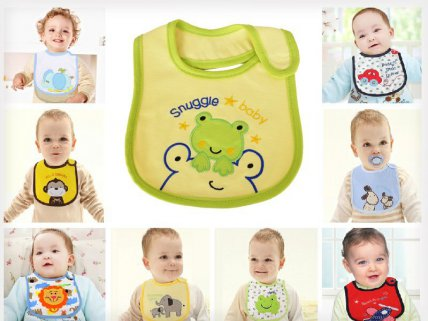 10 x Baby Infant Waterproof Bibs