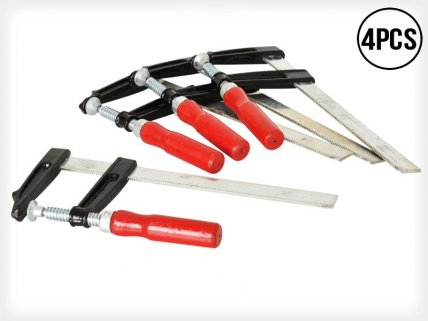 4 x Woodwork Tools F-Clamps 80-200mm