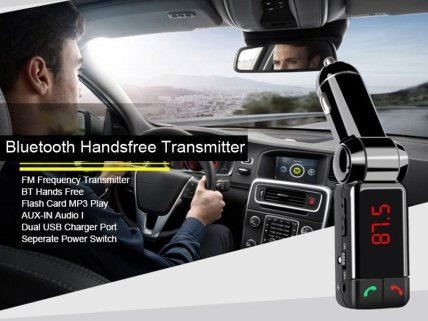 Car Bluetooth Phone Charger with FM Transmitter