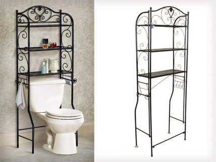 3 Tiers Toilet Bathroom Shelf Storage Rack