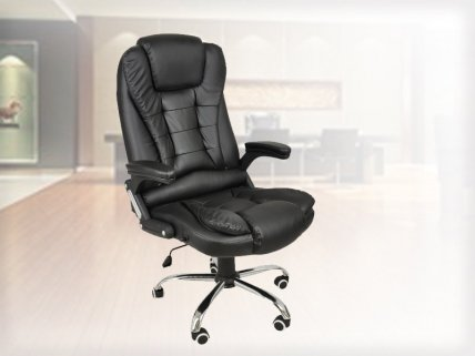 Adjustable Leather Computer Office Chair