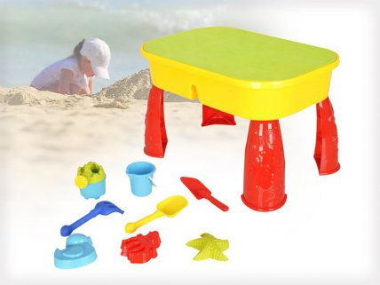 9pcs Water & Sand Children Table Toy Set