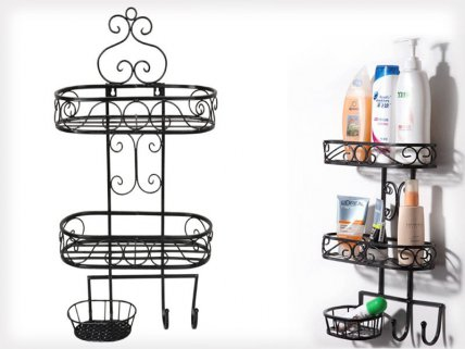 Vintage 2 Tiers Multifunctional Bathroom Rack