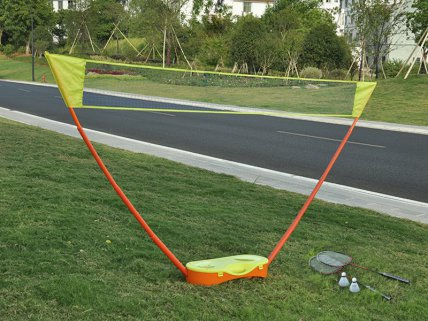 Outdoor Portable Badminton Court with 2 Rackets