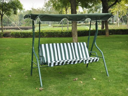 Outdoor 3 Seater Swing Seat with Canopy
