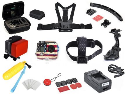 12pc Gopro / Action Camera Accessories Combo Set