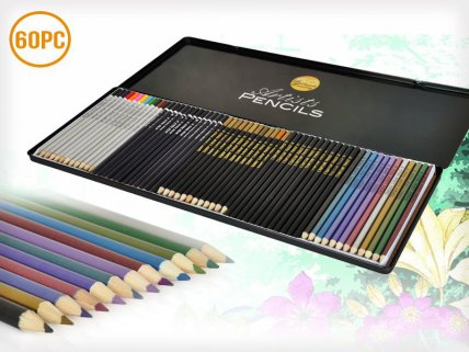 Set of 60 Artist Pencils Drawing Colouring Pencils